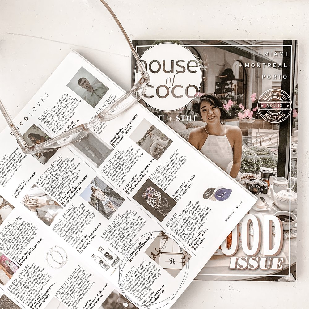 House of Coco - Milly + Co. featured in Issue No. 14 of the publication, under section Coco Loves.
