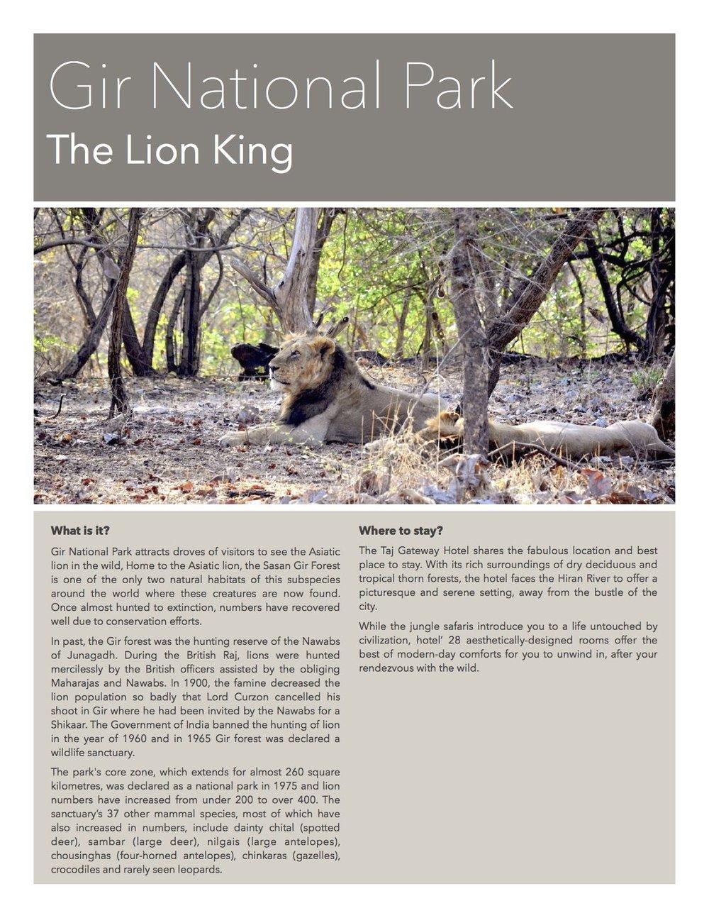 Gir National Park - Wildlife Sanctuary in Gujarat