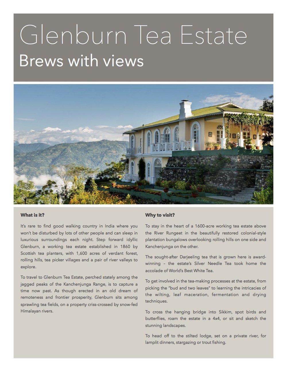 Glenburn Tea Estate - Your stay in Darjeeling