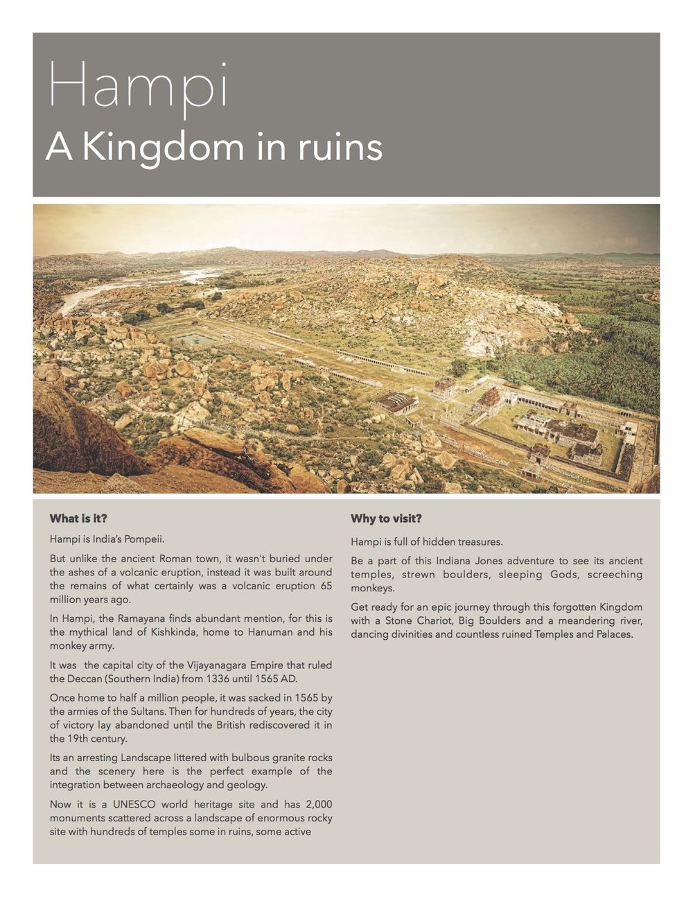 Hampi - The lost kingdom of Karnataka