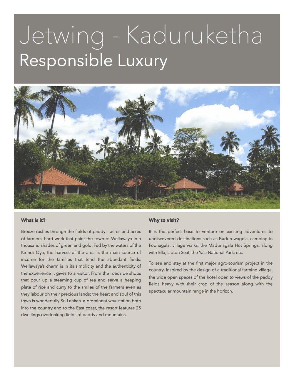 Jetwing Kaduruketha - Your stay in Wellawaya, Sri Lanka