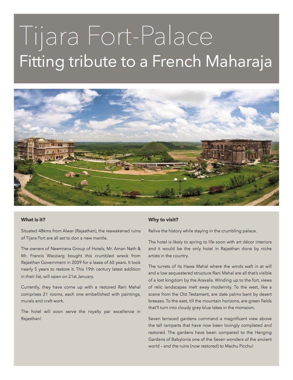 Tijara Fort-Palace - Your stay in Tijara, Rajasthan