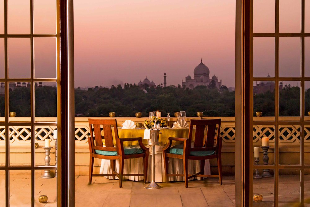 012a-The Oberoi Amarvilas, Agra - Private dining in room Balcony.jpg