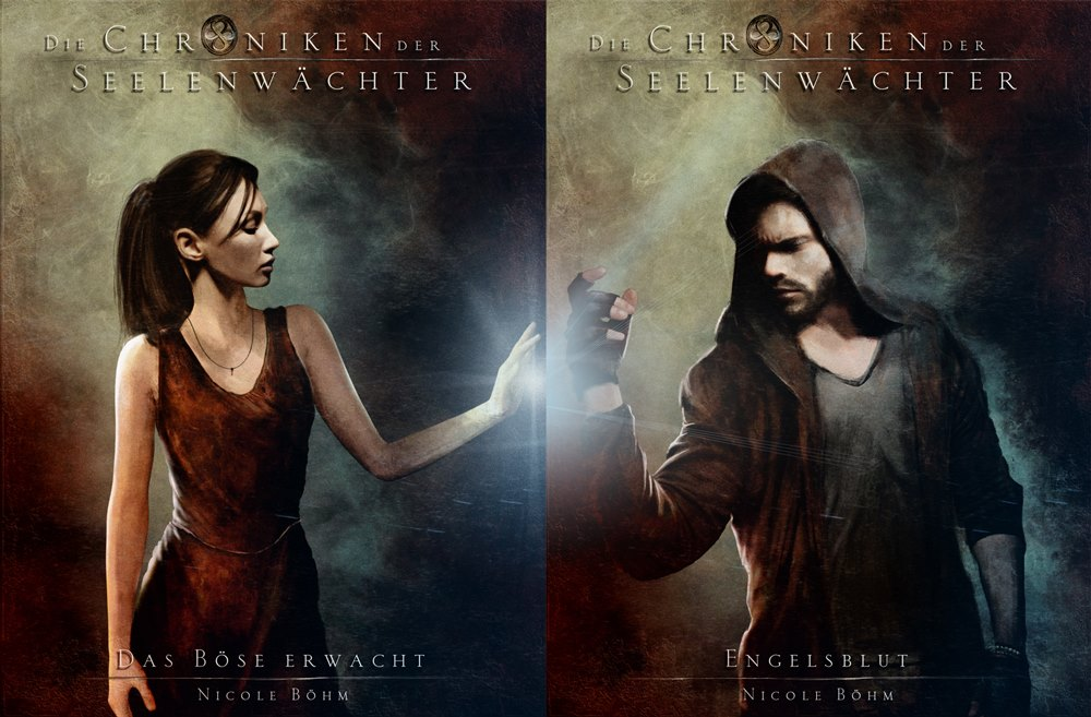 Two main characters, two covers.