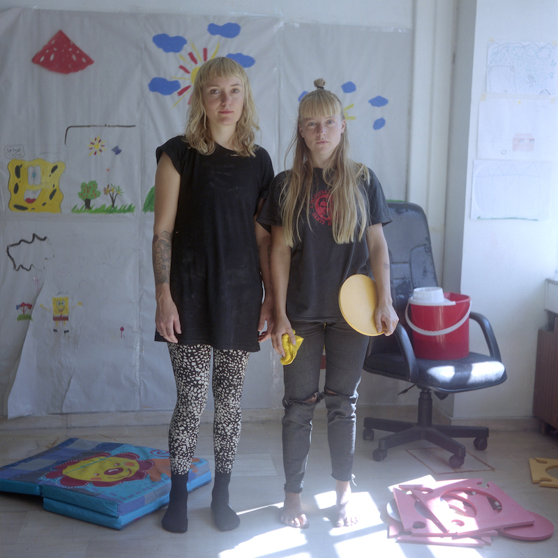 Like other individuals from across the European continent, two women have travelled from Denmark to volunteer at the squat, compelled to help in any practical way they can.
