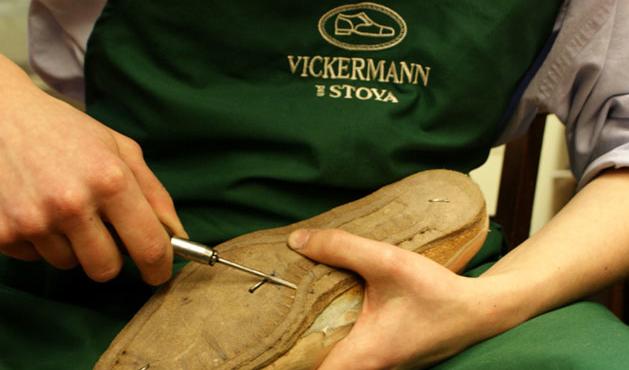 Schuhmacher Schuster Rahmengenähte Schuhe Reparatur Vickermann