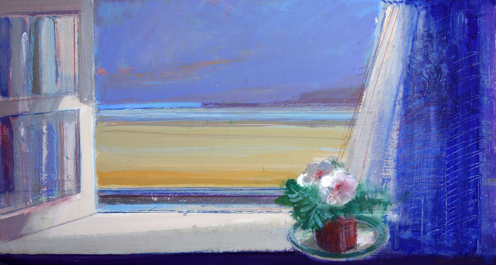 Window Sill & a Lace Curtain 33x60cm Acrylic & Oil £550.jpg