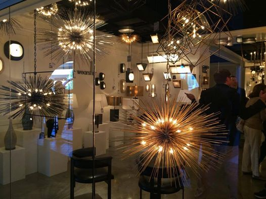 The Kelly Wearstler Collection at Visual Comfort & Co. lighting showroom