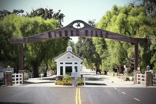 The Long Valley entry gates at Hidden Hills hearken back to its equestrian beginnings