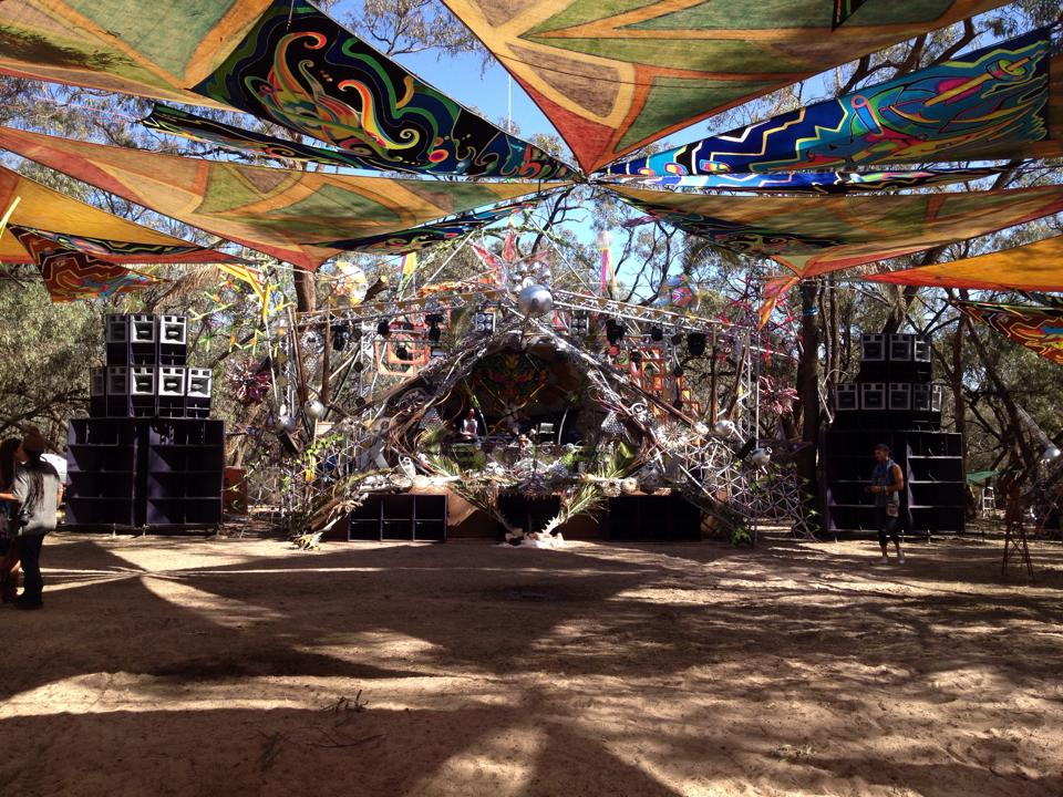Maitreya festival 2014 Main stage- FTE set up.