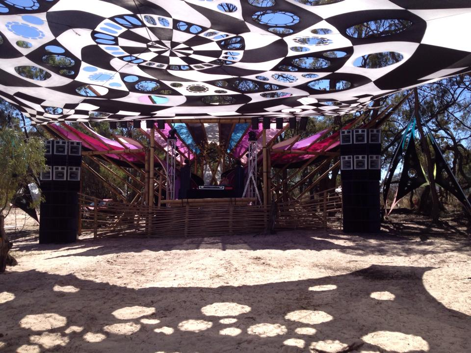 Maitreya festival 2014- Rocket stage- FTE set up.