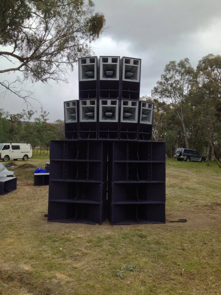 FTE Funktion One set up at  Lost The plot Festival 2013