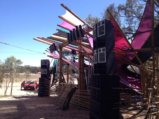 FTE Funktion One set up at Maitreya Festival 2014