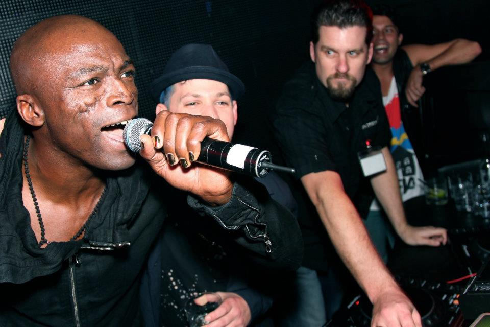 Adam Ward with Seal and Joel Madden at Marquee Sydney 2nd June 2012