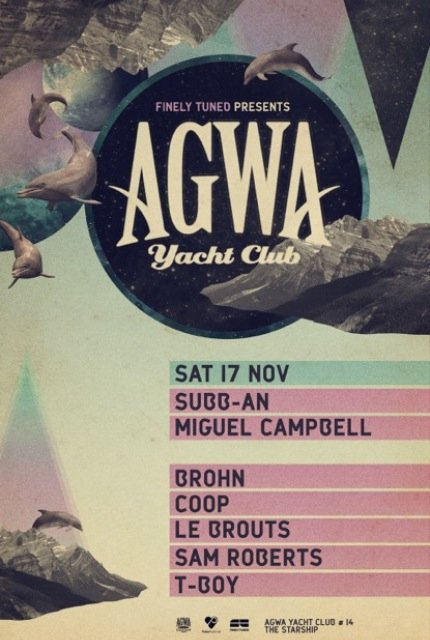 The next installment in Australia's most revered boat party series drops this Saturday Nov 17. Full Throttle is excited to be involved again! AGWA Yacht Club 014 brings another fresh dose of entertainment to Starship Sydney, with international guests SUBB-AN + MIGUELL CAMPBELL, and local talent T-BOY, SAM ROBERTS, LE BRAND, + CO-OP DJs …all delivered to you through Full Throttle's fierce Funktion One systems! Tickets SOLD OUT so quickly Finely Tuned have had to announce an after party, kicking off from 8pm at the Burdekin.