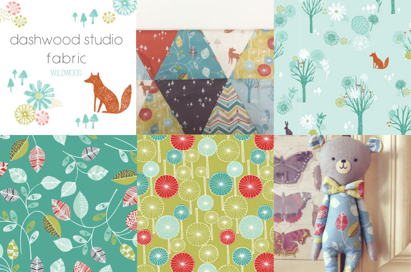 Wildwood fabric collection in collaboration with Dashwood studio