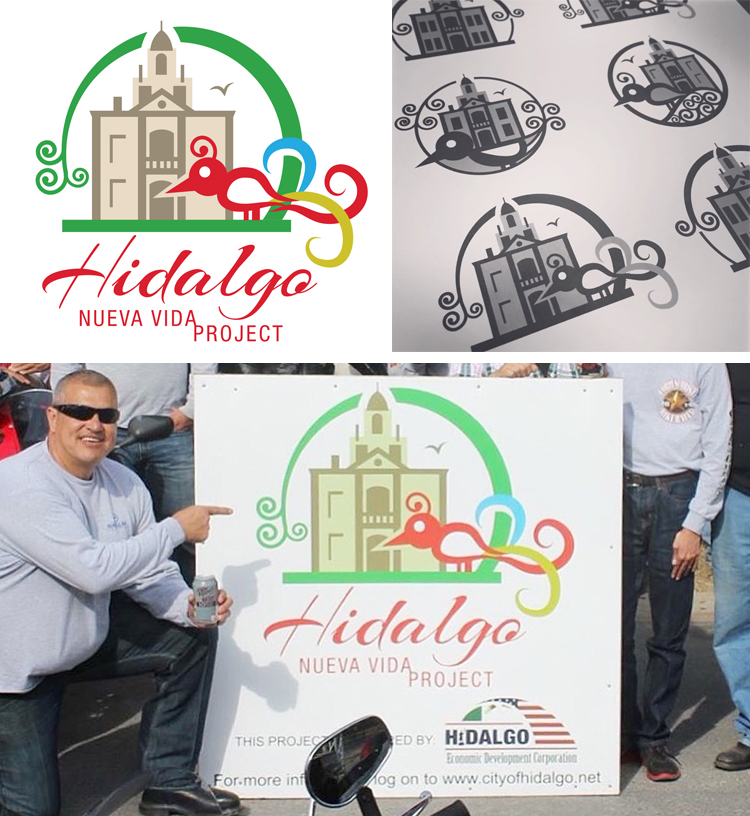 "About a year ago I was approached by the Economic Development council for the city of Hidalgo, Texas to help them create a logo for a new citywide initiative focusing on economic growth. The Nueva Vida Project (""New Life"" in Spanish) is a program that aims to spark a new life in historical old Hidalgo. By rehabbing old buildings and encouraging new business to move in and grow, the program is already off to a successful start. I was honored to be asked to be a part of such a meaningful project and look forward to seeing it succeed.  Take a look at one of their recent events  here ."