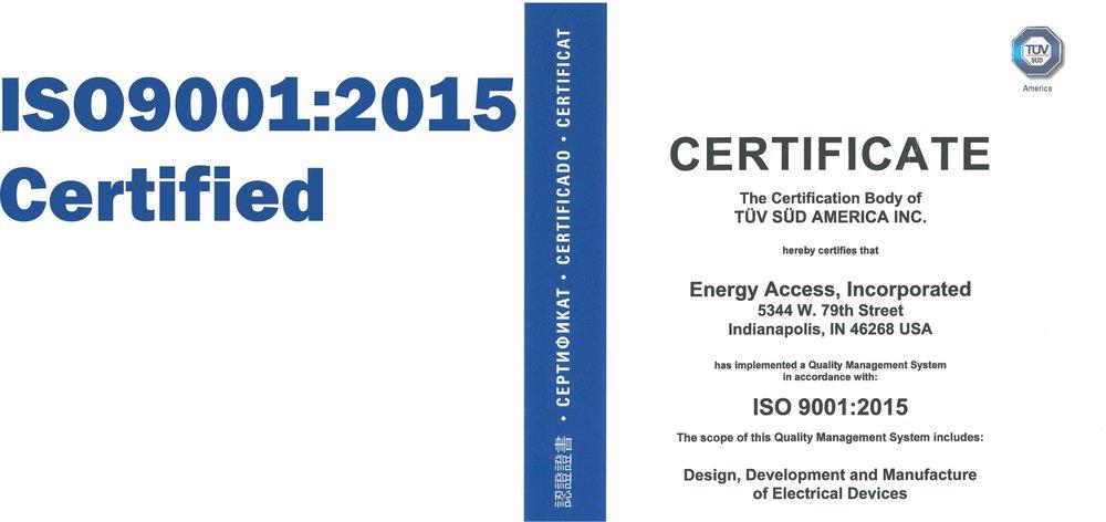 ISO9001:2015 Cerified
