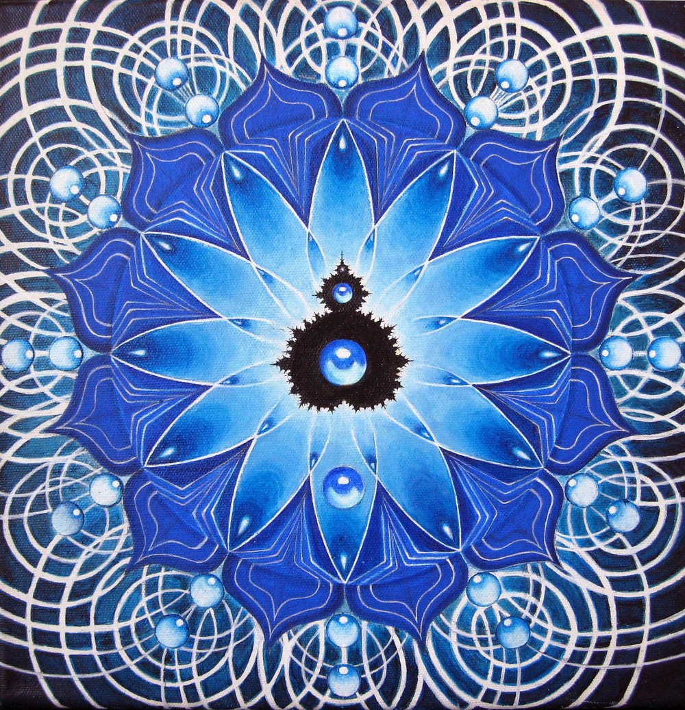 "Seer + Seen,  12"" x 12"".  acrylic on canvas   2008  group exhibit ""Soul to Soul"", Alex Grey MicroCosm Gallery, NYC"
