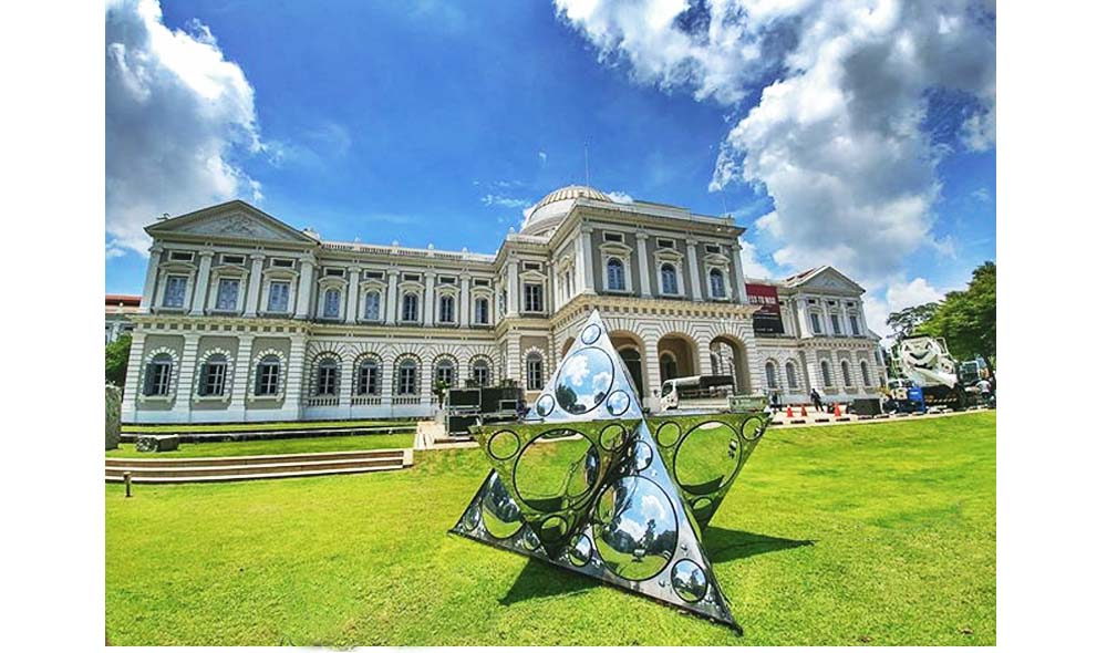 Constellation of One, installed on the front lawn on National Museum of Singapore