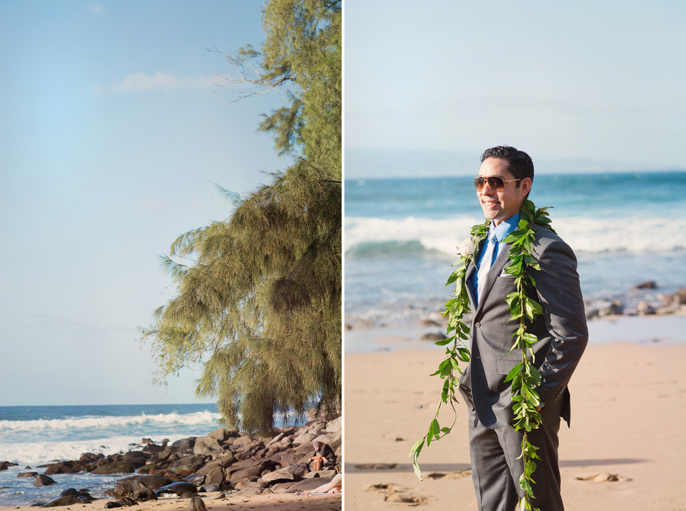 Maui Wedding Photography - Groom arriving