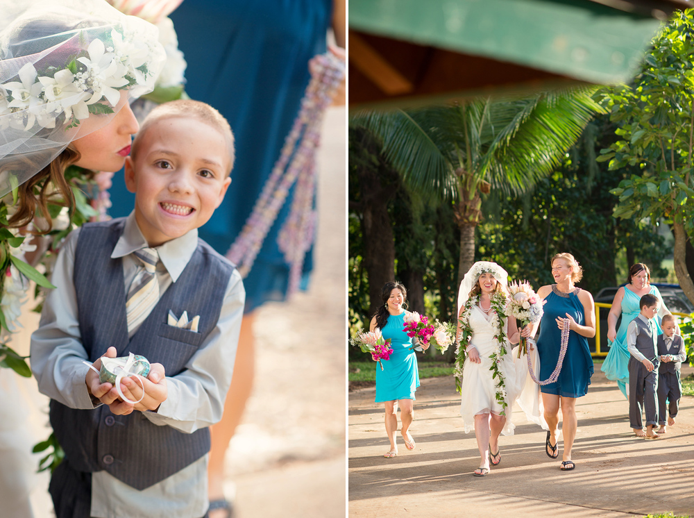 Maui Wedding Photography - Bride and Kids