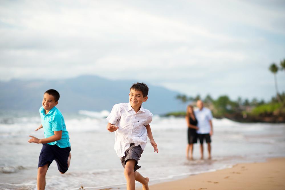 Maui Family Photography - Running