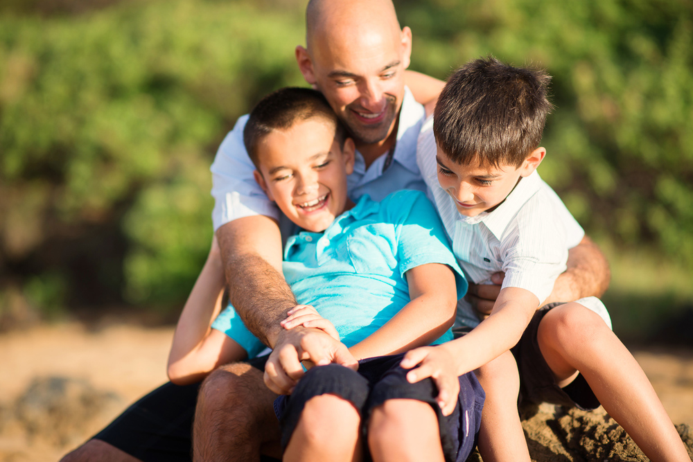 Maui Family Photography - Father & Sons