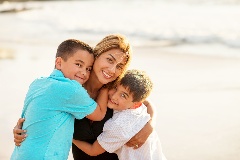 Maui Family Photography - Mom and her Boys