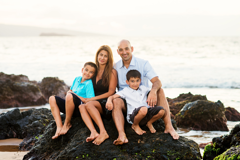 Maui Family Photography - Sitting on the Rocks