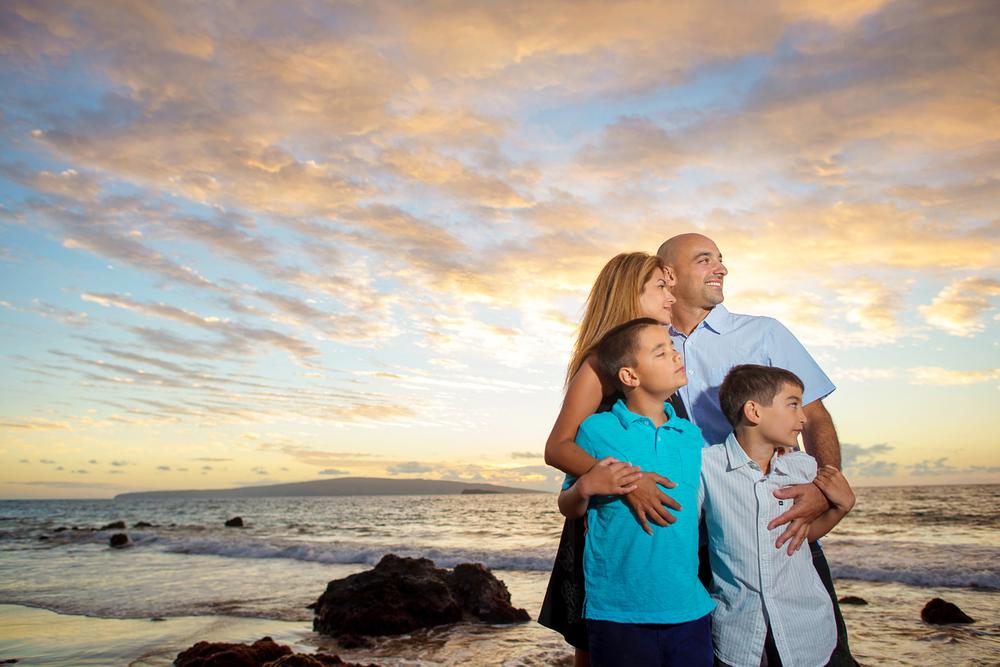 Maui Family Photography - Sunset