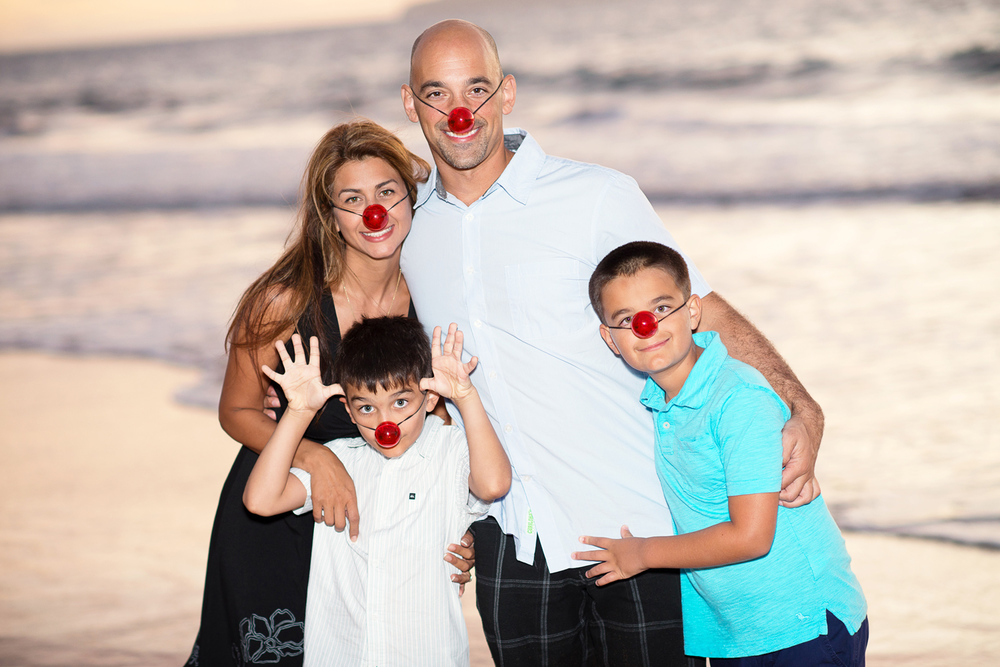 Maui Family Photography - Clown Noses
