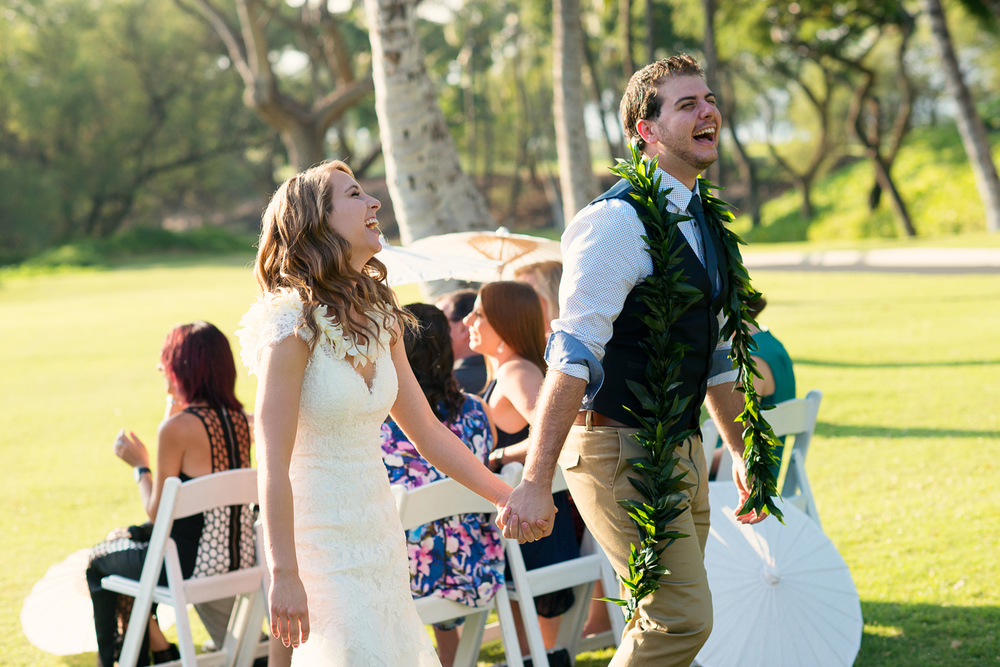 The Maui Wedding Ceremony has ended