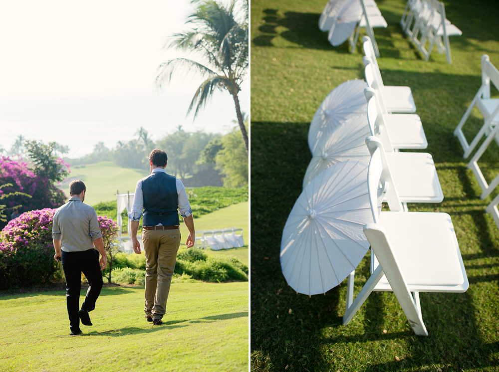Everything ready for the wedding at Gannon's Maui