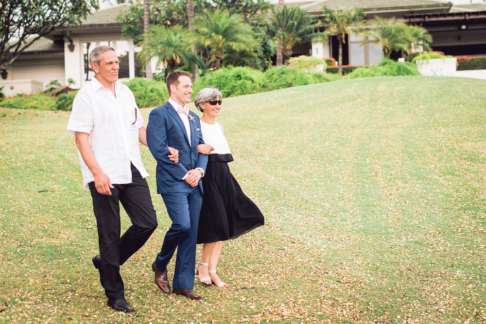 Maui Wedding - It is getting serious for the Groom