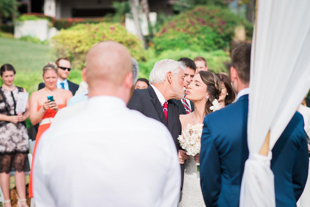 Maui Wedding Photography - A last fatherly kiss
