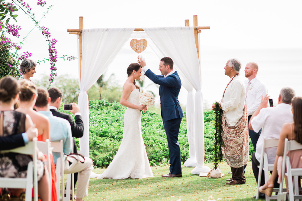 Maui Wedding Photography - a lei for the bride