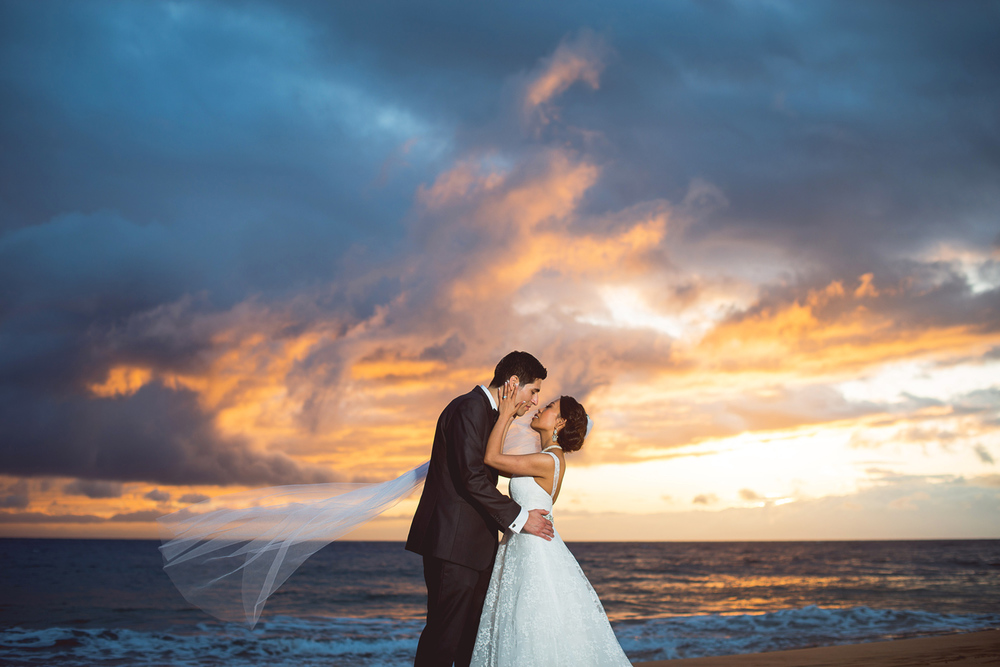 Maui Sunset Wedding Portrait