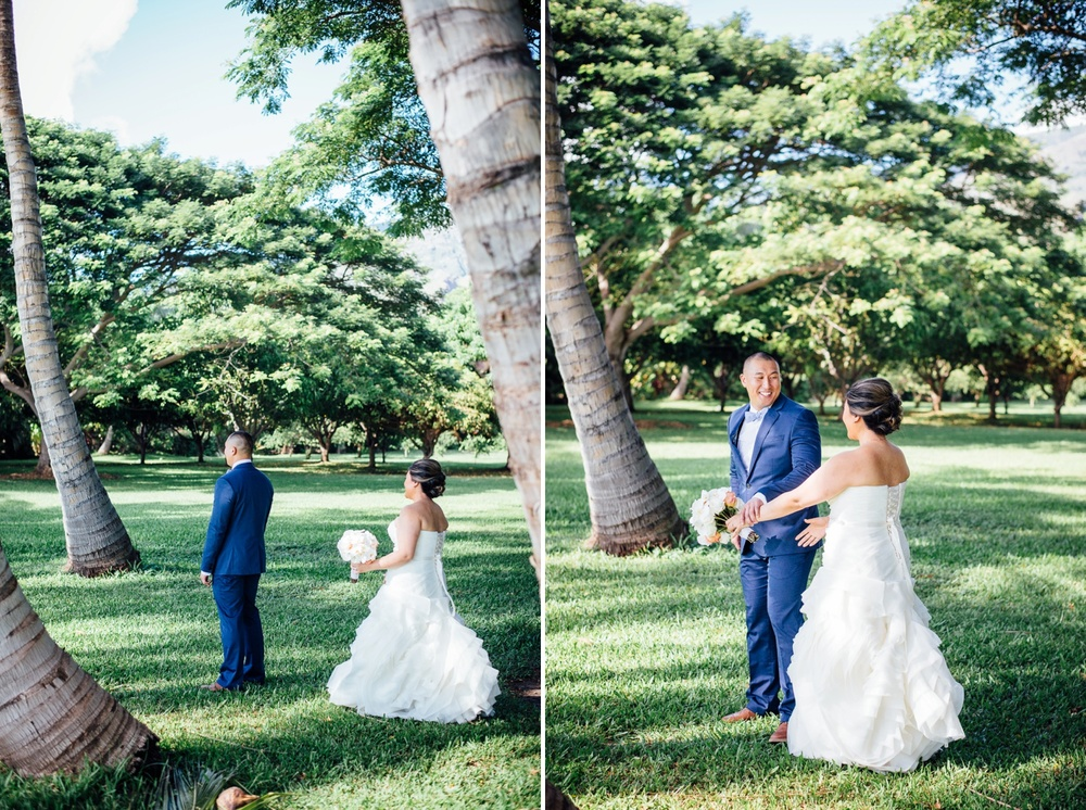 Hawaii Wedding Photography - First Look