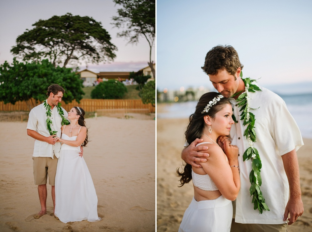 Maui Wedding Photography - Bride & Grooms Portraits at the Beach