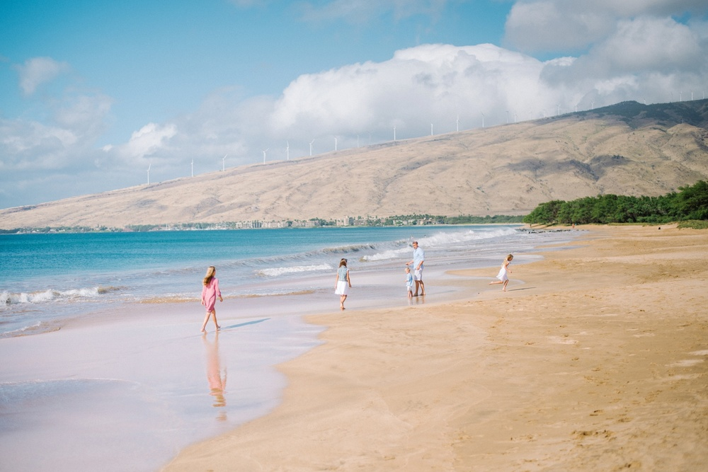 Family Photography - Maui Bordwalk Beach