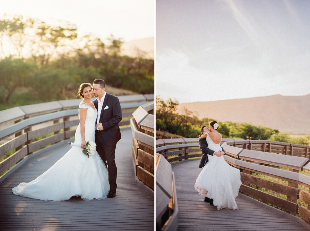 Maui Wedding Photography - Bride & Groom at Boardwalk Beach