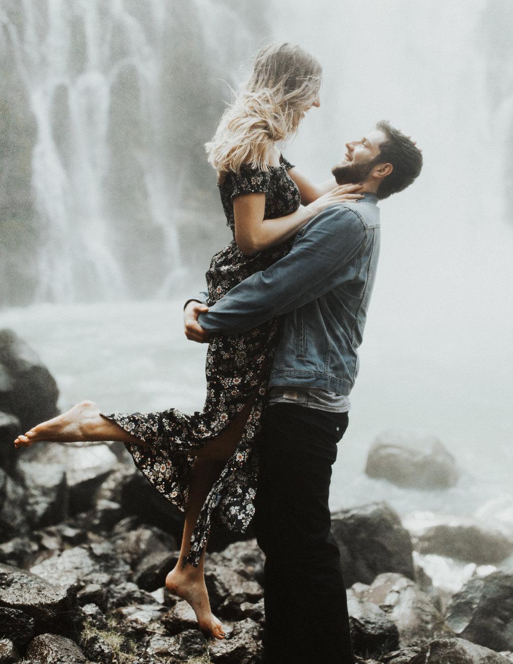 Meagan + Gavin Burney Falls, CA Engagements