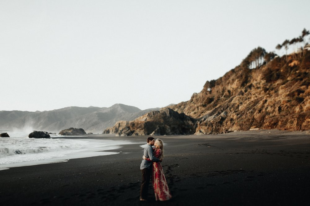 Kelley + Mark Black Sands Beach, CA Engagements