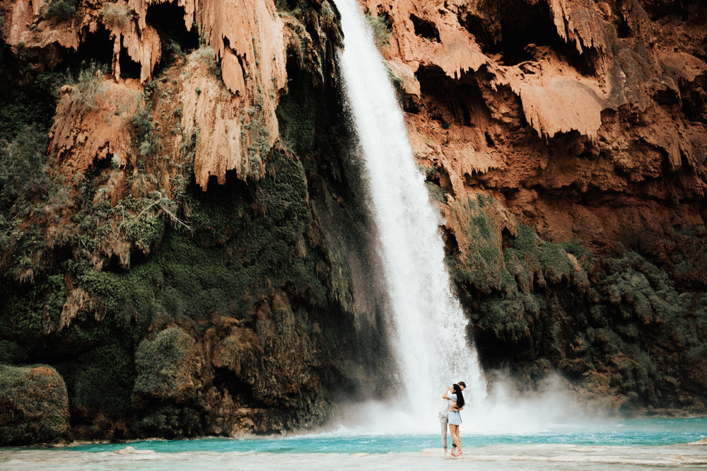 Tina + Matt's Havasu Falls Engagement Session