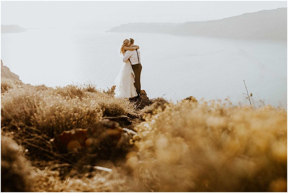 A wedding in Santorini, Greece