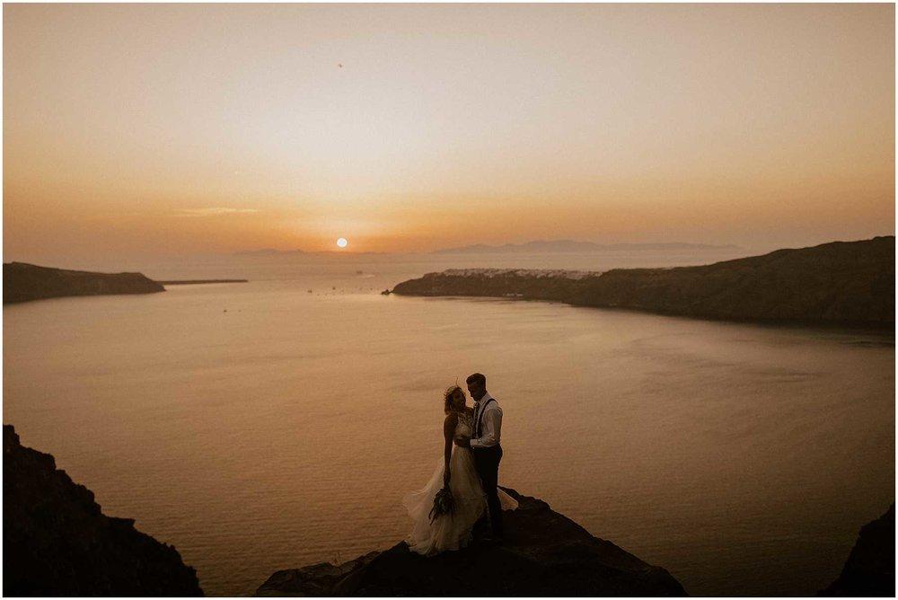Sunset Wedding in Santorini