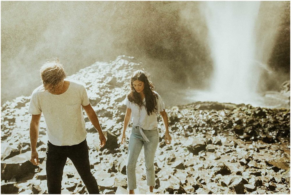 Adventurous, Latourell Falls Couples Shoot