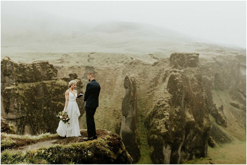 An Intimate Elopement in Iceland