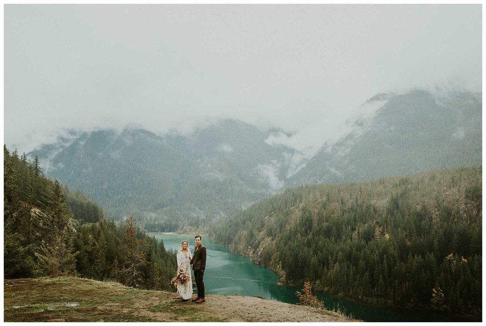 A Northern Cascades National Park Elopement at Diablo Lake